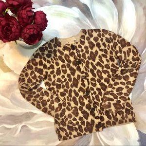 [Michael Kors] button leopard cardigan Size small.